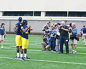 University of Michigan Football Media Day and Fan Day activities at Michigan Stadium in Ann Arbor, Mich., on August 14, 2011.