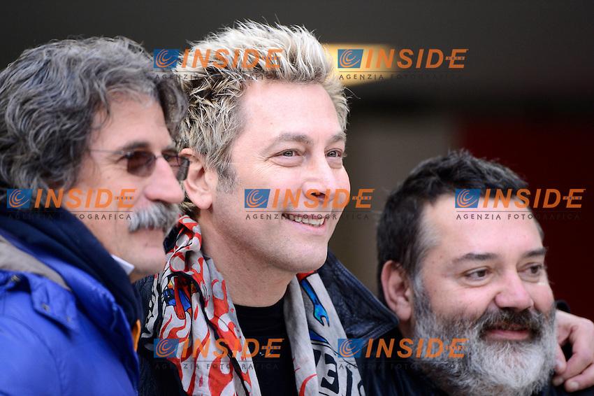 Dj Ringo, Paolo Simoncelli, Paolo Beltramo<br /> Milano 18-01-2015 Stadio Giuseppe Meazza - Football Calcio Serie A Milan - Atalanta. Foto Giuseppe Celeste / Insidefoto