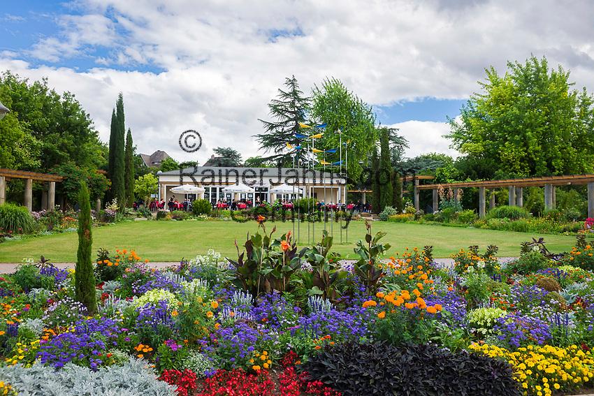 Deutschland, Rheinland-Pfalz, Deutsche Weinstrasse, Bad Duerkheim: Park-Café Traubenkur im Kurpark | Germany, Rhineland-Palatinate, German Wine Route, Bad Duerkheim: Park-Café at spa gardens