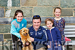 Chico brought his family Katelyn, Neil,Clara and Amy  to the blessing of the animals in the Friary on Sunday