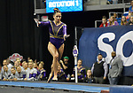 The SEC National Gymnastic Championship was held on Saturday March 24 at Chaifetz Arena on the Saint Louis University campus. Sarah Finnegan of LSU runs towards the vault.<br />