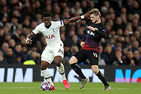Timo Werner of RB Leipzig  and Serge Aurier of Tottenham Hotspur during Tottenham Hotspur vs RB Leipzig, UEFA Champions League Football at Tottenham Hotspur Stadium on 19th February 2020