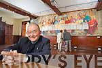 Monsignor Pa?draig O? Fiannachta pictured in front of the Fresco of the Last Supper by American artist Elenor E. Yates in the Nano Nagle room of An Di?seart institute of Irish Culture and Spirituality in Dingle