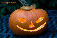 DC08-602z  Jack-o-Lantern Pumpkin with candle light, Halloween