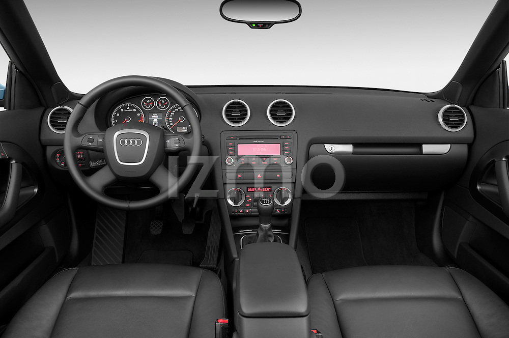 Straight dashboard view of a 2003 - 2012 Audi A3 Attraction 2-Door Convertible.
