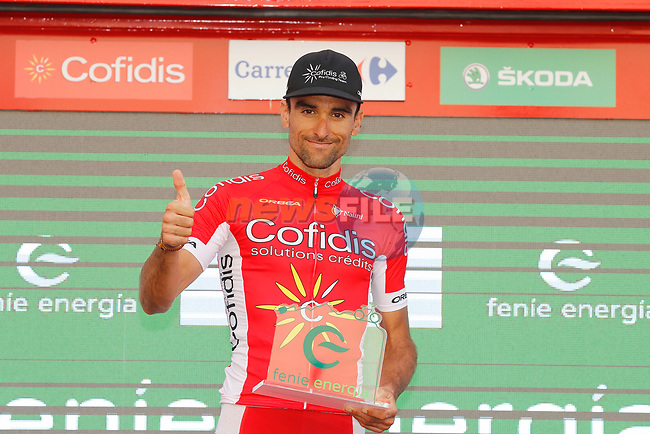 Luis Angel Mate Mardones (ESP) Cofidis wins the day's combativity award at the end of Stage 7 of the 2017 La Vuelta, running 207km from Ll&iacute;ria-Cuenca, Spain. 25th August 2017.<br /> Picture: Unipublic/&copy;photogomezsport | Cyclefile<br /> <br /> <br /> All photos usage must carry mandatory copyright credit (&copy; Cyclefile | Unipublic/&copy;photogomezsport)