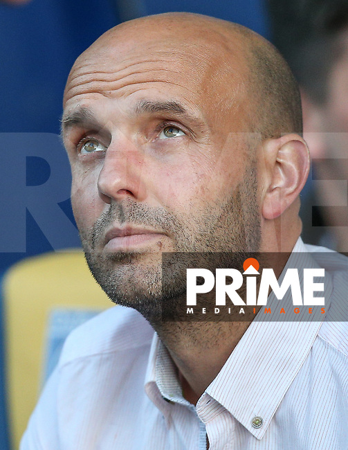 Exeter City Manager Paul Tisdale during the The Checkatrade Trophy match between Oxford United and Exeter City at the Kassam Stadium, Oxford, England on 30 August 2016. Photo by Andy Rowland / PRiME Media Images.