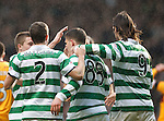 Gary Hooper turns away and takes the acclaim of the Celtic players