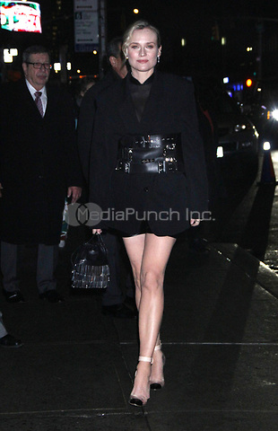 NEW YORK, NY - DECEMBER 13: Diane Kruger at The Late Show With Stephen Colbert in New York City on December 13, 2018. Credit: RW/MediaPunch