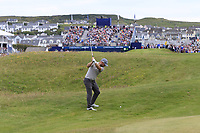Andy Sullivan (ENG) plays his 2nd shot on the 18th hole during Sunday's Final Round of the Dubai Duty Free Irish Open 2019, held at Lahinch Golf Club, Lahinch, Ireland. 7th July 2019.<br /> Picture: Eoin Clarke | Golffile<br /> <br /> <br /> All photos usage must carry mandatory copyright credit (© Golffile | Eoin Clarke)