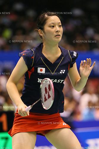 Minatsu Mitani (JPN), <br /> SEPTEMBER 20, 2013 - Badminton : <br /> Yonex Open Japan 2013 <br /> Women's Singles <br /> at Tokyo Metropolitan Gymnasium, Tokyo, Japan. <br /> (Photo by YUTAKA/AFLO SPORT) [1040]