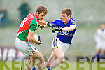 Jonathan Lyne Kerry in action against Jason Gibbons Mayo in the National Football League in Austin Stack Park on Sunday..