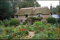 BNPS.co.uk (01202 558833)<br /> Pic FinbarrWebster/BNPS<br /> <br /> Thomas Hardy's Cottage at Higher Bockhampton, near Dorchester, Dorset.