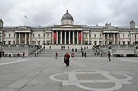 Very quiet Trafalgar Square during Coronavirus outbreak in London, England on March 18, 2020.<br /> CAP/JOR<br /> ©JOR/Capital Pictures