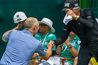 Paul Waring (ENG) and Gary Player (RSA) during the first round at the Nedbank Golf Challenge hosted by Gary Player,  Gary Player country Club, Sun City, Rustenburg, South Africa. 14/11/2019 <br /> Picture: Golffile | Tyrone Winfield<br /> <br /> <br /> All photo usage must carry mandatory copyright credit (© Golffile | Tyrone Winfield)