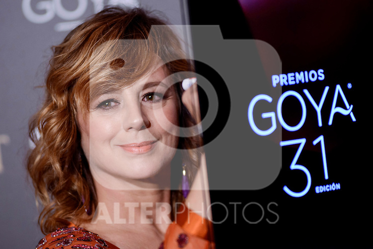 Emma Suarez attends to the Red Carpet of the Goya Awards 2017 at Madrid Marriott Auditorium Hotel in Madrid, Spain. February 04, 2017. (ALTERPHOTOS/BorjaB.Hojas)
