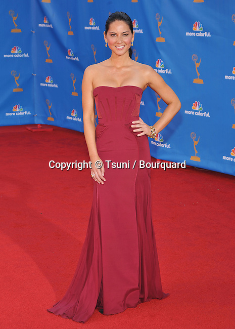 Olivia Munn<br /> 62th Emmy Awards - 2010 at the Nokia Theatre in Los Angeles.