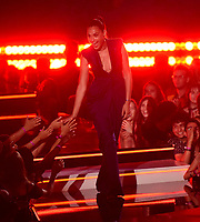 SANTA MONICA - JUNE 15: Gal Gadot appears on the 2019 MTV Movie & TV Awards at the Barker Hangar in Santa Monica, California. The show airs on MTV on Monday, June 17. (Photo by Frank Micelotta/PictureGroup)