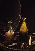 Europe/France/Champagne-Ardenne/51/Marne/Reims: Caves Veuve Cliquot - Vieille bouteille de champagne - Maison de Champagne Veuve Clocquot Ponsardin