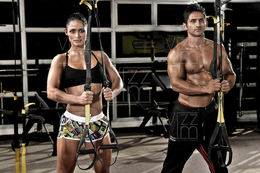 FUNCTIONAL TRAINING 5. Vivian y Mauricio Gómez. Estudio de Entrenamiento Funcional en la ciudad de Bogotá, Colombia./  Functional Training Studio at Bogota city, Colombia.Photo: VizzorImage/ Gabriel Aponte / Staff