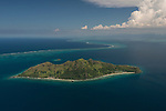 Aerial - Great Sea Reef surrounding beautiful Kia Island. Northern Division