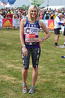 Jenni Falconer at the start of the 2017 London Marathon on Blackheath Common, London, UK. <br /> 23 April  2017<br /> Picture: Steve Vas/Featureflash/SilverHub 0208 004 5359 sales@silverhubmedia.com