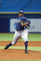 Tampa Bay Rays pitcher Diego Castillo (86) during an instructional league game against the Boston Red Sox on September 24, 2015 at Tropicana Field in St Petersburg, Florida.  (Mike Janes/Four Seam Images)