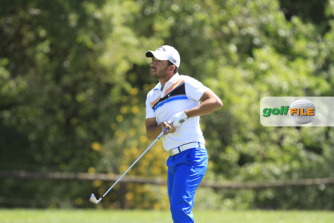 Pablo Larrazabal (ESP) on the 9th during Round 3 of the Open de Espana  in Club de Golf el Prat, Barcelona on Saturday 16th May 2015.<br /> Picture:  Thos Caffrey / www.golffile.ie