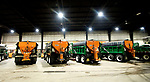 MIDDLEBURY, CT-011719JS07-Middlebury town trucks sit in the town garage on Thursday after workers prepared for any weather we might receive over the weekend. <br /> Jim Shannon Republican American