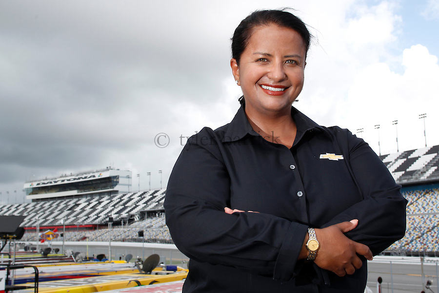 DAYTONA, FL - Alba Colón, NSCS Program Manager - Chevy Racing Engineering  - portraits of GM Racing Engineering Staff.