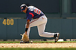 Wilson Betemit fields a grounder during Atlanta Braves baseball spring training at Disney's Wide World of Sport complex in Lake Buena Vista, Fla., Tuesday, Feb. 28, 2006.(AP Photo/Brian Myrick)