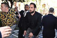 Gonzalo Higuain all'ingresso della FIGC dove presenziera all'udienza del ricorso contro la sua squalifica  che si terrà presso la  Corte di Appello Federale della federazione calcio