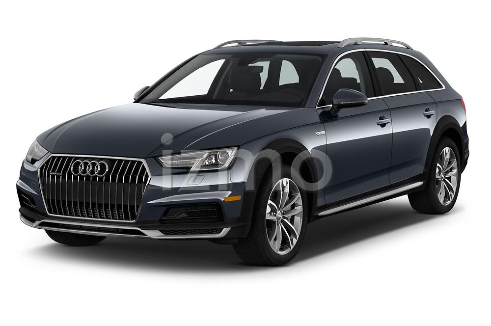 2018 Audi allroad Premium 5 Door Wagon angular front stock photos of front three quarter view