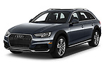2018 Audi allroad Premium 5 Door Wagon angular front stock photos of front three quarter view