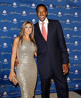 September 26, 2012: Chicago Bulls legend Scottie Pippen arrives with his wife Larsa Younan on the red carpet for the 39th Ryder Cup Gala at Akoo Theatre in Rosemont, Illinois, USA. Credit: Kamil Krzaczynski/MediaPunch Inc. /NortePhoto