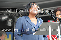 Peoples March for the NHS - Central London, Saturday 6th Sept 2014 - <br /> <br /> MP Dianne Abbott<br /> <br /> <br /> <br /> <br /> Photographer: Jeff Thomas - Jeff Thomas Photography - 07837 386244/07837 216676 - www.jaypics.photoshelter.com - swansea1001@hotmail.co.uk