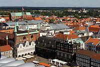 St.Marien und Rathaus (13.-16. Jh.) in Lübeck, Schleswig-Holstein, Deutschland,  Unesco-Weltkulturerbe