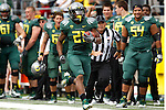 09/17/11-- Oregon running back LaMichael James runs down the sideline for a 90-yard touchdown against Missouri State at Autzen Stadium in Eugene, Or....Photo by Jaime Valdez. ...........................................