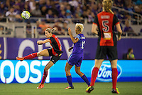 Orlando, Florida - Sunday, May 14, 2016: Western New York Flash defender Alanna Kennedy (8) plays the ball up field during a National Women's Soccer League match between Orlando Pride and New York Flash at Camping World Stadium.