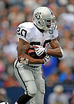 21 September 2008: Oakland Raiders' running back Darren McFadden in action against the Buffalo Bills at Ralph Wilson Stadium in Orchard Park, NY. The Bills rallied for 10 unanswered points in the 4th quarter to defeat the Raiders 24-23...Mandatory Photo Credit: Ed Wolfstein Photo