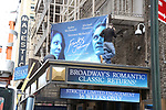 """Theatre Marquee unveiling for """"Frankie and Johnny in the Clair de Lune"""" starring Audra McDonald and Michael Shannon  at the Broadhurst Theatre on April 22, 2019 in New York City."""
