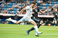 Real Madrid Achraf Hakimi and Celta de Vigo Facundo Roncaglia during La Liga match between Real Madrid and Celta de Vigo at Santiago Bernabeu Stadium in Madrid, Spain. May 12, 2018. (ALTERPHOTOS/Borja B.Hojas) /NORTEPHOTOMEXICO