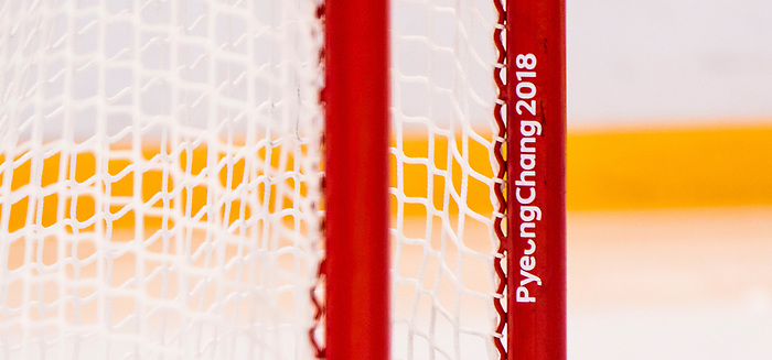 PyeongChang 15/3/2018 - The goal post as Canada takes on Korea in semifinal hockey action at the Gangneung Hockey Centre during the 2018 Winter Paralympic Games in Pyeongchang, Korea. Photo: Dave Holland/Canadian Paralympic Committee