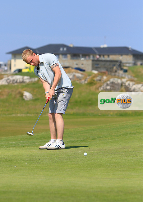 Eoghan O'Donovan (Cra'stown) on the 1st during the 2nd round of the Irish Amateur Close Championship 2013 at the Connemara Golf Club Sat  9/6/13<br /> Picture:  Thos Caffrey / www.golffile.ie