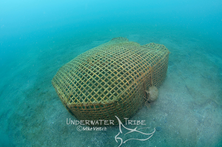 Bamboo Fish Trap, Lembeh Strait, Bitung, Manado, North Sulawesi, Indonesia, Pacific Ocean