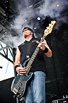 Vince Hornsby of Sevendust performs during the 2013 Rock On The Range festival at Columbus Crew Stadium in Columbus, Ohio.