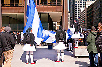 Raising the Greek Flag Ceremony Daley Plaza Downtown Chicago Illinois 3-22-18