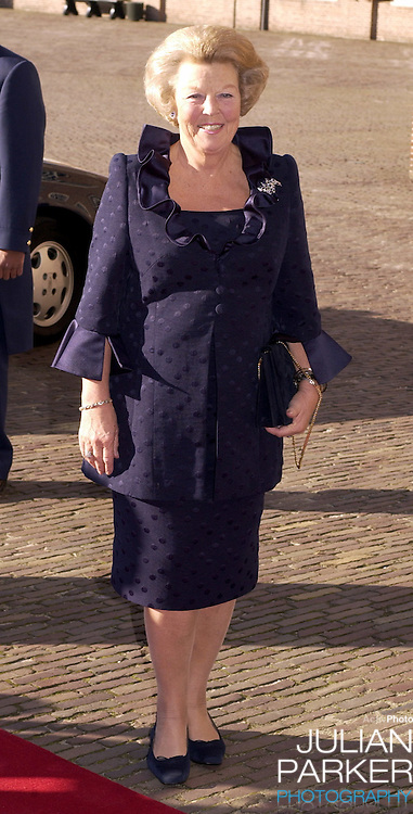Queen Beatrix attends the Christening of Prince Constantijn & Princess Laurentien of Holland's son Claus-Casimir, at the Palais Het Loo in Apeldoorn..