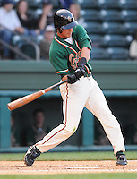 April 20, 2009: Infielder Joel Staples (31) of the Greensboro Grasshoppers, Class A affiliate of the Florida Marlins, in a game against the Greenville Drive at Fluor Field at the West End in Greenville, S.C. Photo by: Tom Priddy/Four Seam Images