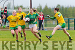 Kerry's Anna Galvin, cuts through the Donegal defence in Rathmore on Sunday.